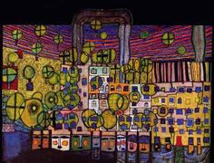 Abstract Art Images, Friedensreich Hundertwasser, Art And Architecture, Doodle Art, Textures Patterns, Abstract Expressionism, Illustration Art, December, Paintings