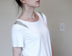Cut Out Bamboo T Shirt Small