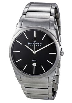 Price:$76.00 #watches Skagen 859LSXB, Stainless steel case, Stainless steel bracelet, Black dial, Quartz movement, Scratch-resistant mineral, Water resistant up to 3 ATM - 30 meters - 100 feet