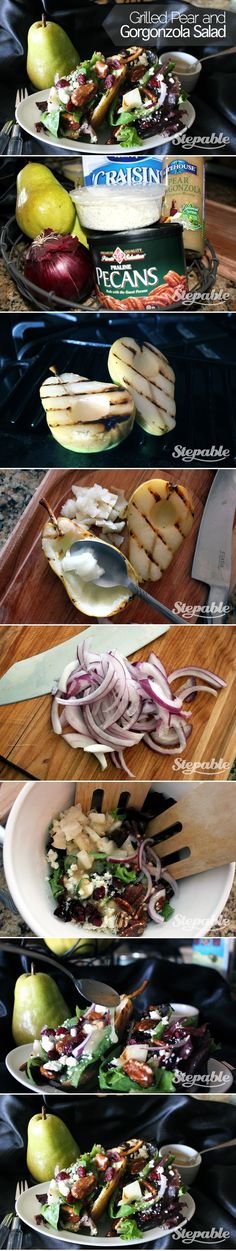 Grilled Pear and Gorgonzola Salad #stepable The perfect Thanksgiving salad recipe.