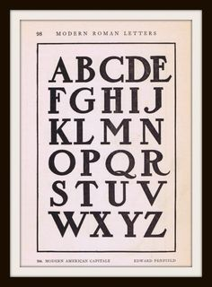 Antique Alphabet Font from early 1900's - Knick Of Time: