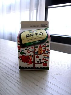 Apple milk - delish!!  It's technically just like a smoothie with apple.