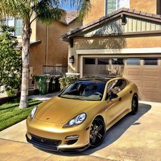 New ride for rapper The Game: Gold Porsche Panamera