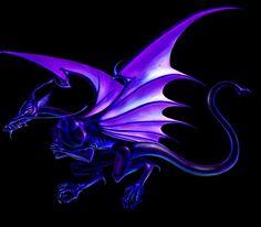 dragon black purple animal picture and wallpaper