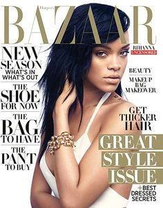Rihanna looking smokin' yet sweet on @Harper's Bazaar.
