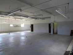 This section of the warehouse would be perfect for the classroom, showroom and offices!