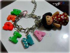 PicMonkey: Design That Works Name Bracelet, Polymer Clay, Personalized Items, Bracelets, Crafts, Jewelry, Design, Manualidades, Jewlery