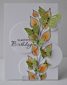 This is a form of spotlighting Butterfly punched card 3 Butterfly Cards, Flower Cards, Card Making Inspiration, Making Ideas, Triangles, Best Wishes Card, Bday Cards, Scrapbooking, Paper Cards