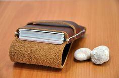 Business Card Holder, Cardholder Wallet , Credit Card Holder, Leather Cardholder, Business Cardholder  - Wallet For Men - Free Monogramming