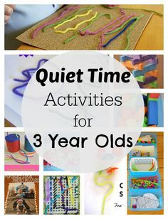 Simple quiet time activities for 3 year olds! Perfect, easy ideas for kids who no longer nap, or to keep older kids busy while Mama cares for baby.