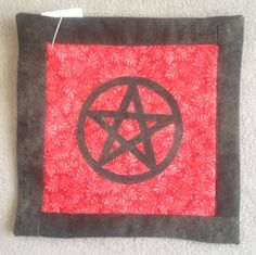 Quilted Pentacle Coaster great for mugs or candles by tashsfaecritters, $5.00
