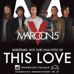 Última misión! Subí una foto inspirada en THIS LOVE  el hashtag  #Maroon5Palmas y participá por un par  de entradas para el show!!! Seguí a @PalmasDelPilar y mencionanos para participar. Conocé las bases y condiciones: