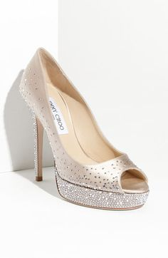 Jimmy Choo sparkle shoes! #wedding #shoes
