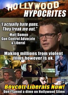 """No one cares what actors think. We should ban hollywood movies with anti American actors. Hit 'em where it hurts money. """" Boycott Hollywood as much as possible """""""