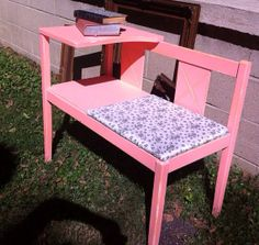 Telephone Chair/ Gossip Chair. Vintage chair/ by CharmingCastoffs