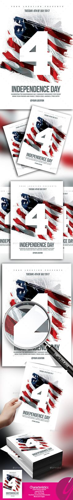 Independence Day Flyer | Flyer Template, Font Logo And Logos