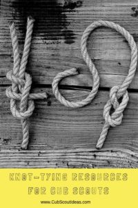 Arrow of Light Cub Scout need to know how to tie knots.  Here's a great resource.