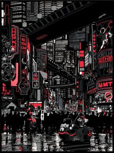 iPhone X Wallpaper Raid 71 - Urban Sprawl - Judge Dredd Official Print for Vice Press Variant 365847169724767308 Ville Cyberpunk, Art Cyberpunk, Cyberpunk Aesthetic, Anime Scenery Wallpaper, City Wallpaper, Dark Wallpaper, Iphone Wallpaper, Aesthetic Japan, City Aesthetic