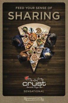 Crust pizza focuses on all the senses - Mumbrella Pizza Menu Design, Food Menu Design, Food Poster Design, Restaurant Menu Design, Food Advertising, Creative Advertising, Advertising Design, Creative Pizza, Ads Creative