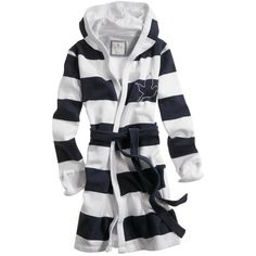 American Eagle Women's striped robe Night Time Navy (28 CAD) found on Polyvore