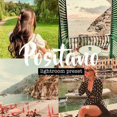 Positano Lightroom Preset (Mobile + Desktop) | Travel Preset | Vlogger & Blogger Preset | Aesthetic Preset | Cute Preset  #dreamypresets #aestheticpresets #lightroompresets #photofilters #presetpack #travelpresets #lightroomfilter #etsyshopowner #instagramfilters #cutepresets #lightroomfilters #positanolightroompreset #vloggerpreset #bloggerpreset Vintage Lightroom Presets, 90s Aesthetic, Positano, Your Photos, Desktop, Cute, Movie Posters, Travel, Inspiration