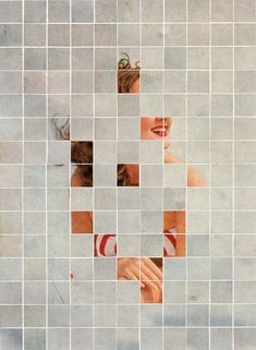 For the ongoing series 'There Must Be More To Life Than This', Canadian artist Anthony Gerace creates mysterious collages by combining vintage portraits with colorful tiles that fragment. Collages, Collage Art, Graphic Design Illustration, Illustration Art, Graphic Art, Art Postal, Photocollage, Canadian Artists, Work Inspiration