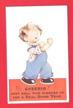 Mabel Lucie Attwell postcard, via Etsy.