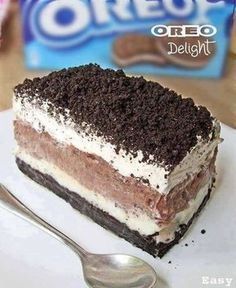 How To Make Oreo Delight - Ingredients & Directions: 1 pkg of regular oreos 8 oz cream cheese softened 1 large pkg chocolate instant pudding 6 T melted butter 16 oz cool whip 1 c powdered sugar 2 ¾ c milk Crush cookies Save about 1 c to sprinkle on …