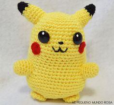 Mi pequeño mundo rosa ♥: Pikachu a Crochet: Patrón en Español e Inglés / Spanish and English Pattern