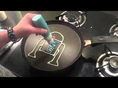 Pancake Art - Star Wars pancakes / crêpes r2d2 - YouTube