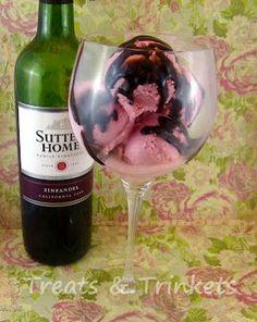 Raspberry Red Wine Ice Cream