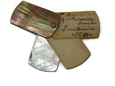 Antique Edwardian Bone and Mother of Pearl Aide Memoire