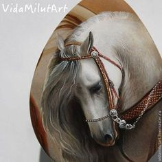 Роспись по камню ручной работы. Ярмарка Мастеров - ручная работа Лошадь княжны на яшме. Handmade.