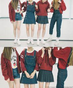 Fashion Korean Red Dress Ideas - New Site Cute Fashion, Look Fashion, Trendy Fashion, Girl Fashion, Fashion Outfits, Womens Fashion, Dress Fashion, Fashion Ideas, Korean Fashion Trends