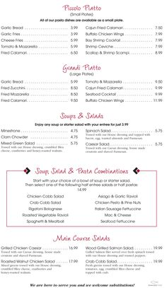 StrizziS Party Pan To Go Menu  Get Your Business Lunch Or