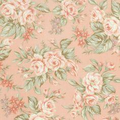 Shabby pink rose fabric