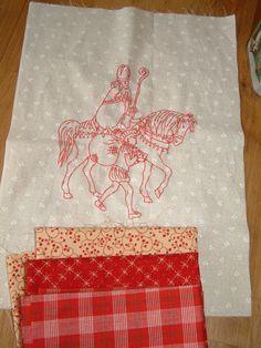 Sinterklaas, nog een lapje uitzoeken-redwork-borduren