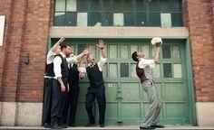 Funny Groomsmen Photos   Wedding Inspiration Wedding Picture Poses, Funny Wedding Photos, Wedding Poses, Wedding Shoot, Wedding Pictures, Wedding Dj, Police Wedding, Party Pictures, Wedding Ideas