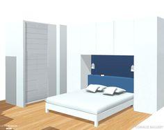 Création et réalisation sur-mesure un pont de lit dressing.