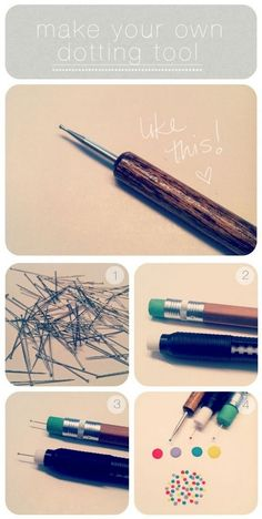 13 Nail Hacks for Salon-Quality Manicures - Make your own dotting tool with a straight pin.