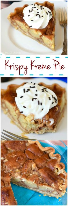 """Another Pinner wrote: """"Krispy Kreme Pie! I made a whole pie out of Krispy Kreme Donuts. Just Desserts, Delicious Desserts, Dessert Recipes, Yummy Food, Yummy Treats, Sweet Treats, Krispy Kreme, Eat Dessert First, Love Food"""
