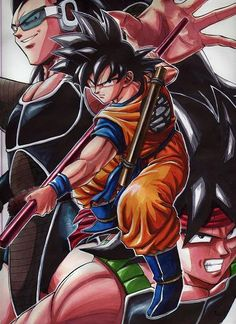 Goku, Raditz, and Bardock
