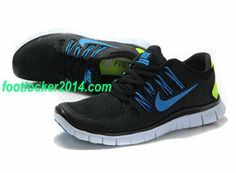 Nike Free 5.0 Size 12 Black Blue For Running Mens