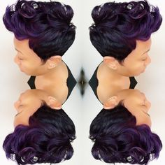 Mohawk hairstyles are one of the most diverse stylescan easily be pulled off on any face shape or skin tone.Check out our list of Mohawk styles for black women Love Hair, Gorgeous Hair, Short Hair Cuts, Short Hair Styles, Mohawk Styles, Pixie Cuts, Short Pixie, Mohawk Hairstyles, Hairstyles Pictures