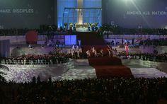 27/7 - El Papa Francisco asiste a la ceremonia antes de la vigilia