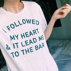 Sometimes you just have to follow your heart. And sometimes your heart leads you to the bar. ¯\_(ツ)_/¯ This tee is ✨brand new✨ on JACVANEK.COM. Tag a friend who needs it and go check out the rest of my new arrivals!!