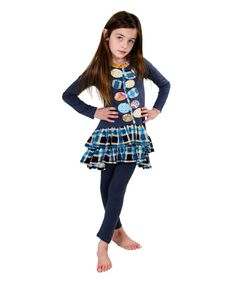 Bring a pretty pop of plaid to her playday wardrobe with this whimsical duo made with a soft, breathable cotton.
