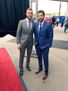Scott Darling and Corey Crawford #RedCarpet #RaiseTheBanner