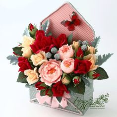 70 Ideas Birthday Diy Decorations Giant Flowers For 2019 Giant Flowers, Paper Flowers Diy, Flower Crafts, Fabric Flowers, Flower Box Gift, Flower Boxes, Diy Birthday Decorations, Birthday Diy, Bouquet Box