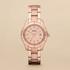 Stella Mini Stainless Steel Rose Colored Watch from Fossil! It's on it's way today!!! <3 thank you to my hun bun!